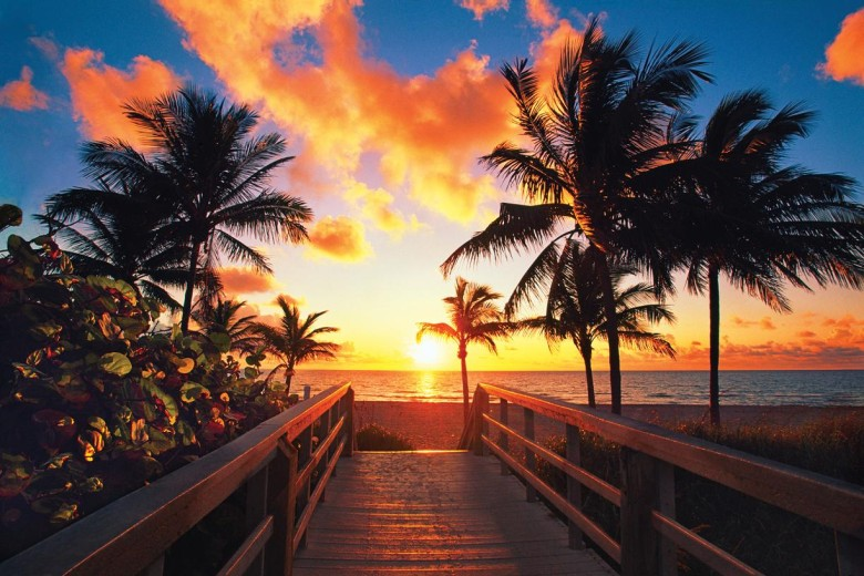 sunset-at-beach-fort-lauderdale